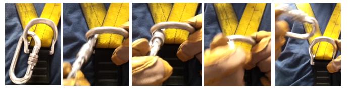 uso del mosquetón