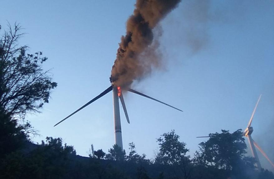 incendio aerogenerador