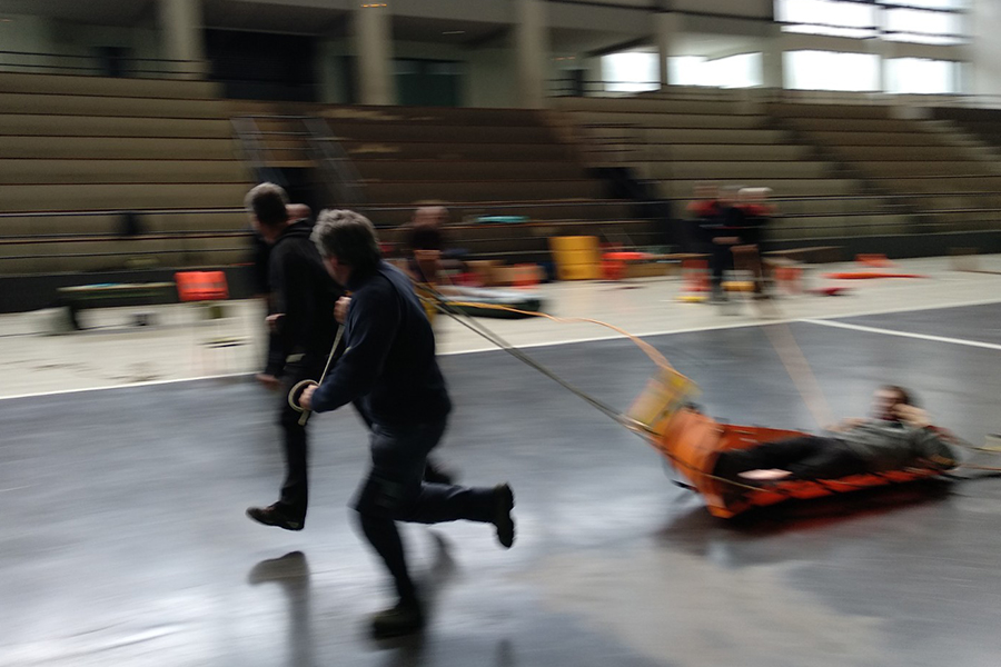 Técnica de rescate con lanzamiento de cuerdas