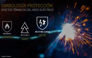 Infografía simbolos protección arco eléctrico
